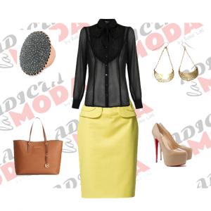 Outfit negro-amarillo