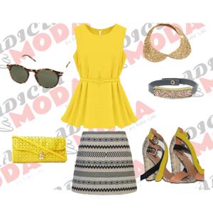 outfit boho amarillo